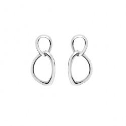 Sea Gems Silver Linked Dropper Earrings P1195
