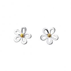 Sea Gems Silver Daisy Stud Earrings P1455