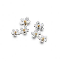 Sea Gems Silver Daisy Trio Stud Earrings P1195