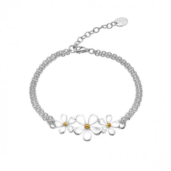 Sea Gems Silver Daisy Bracelet P1753