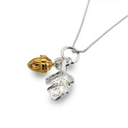 Sea Gems Silver Acorn Pendant and Chain P2721