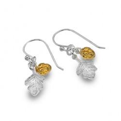 Sea Gems Silver Acorn Dropper Earrings P2722