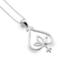 Sea Gems Silver Lotus Bell Pendant and Chain P3745