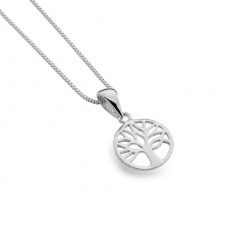Sea Gems Silver Tree of Life Pendant and Chain P3824