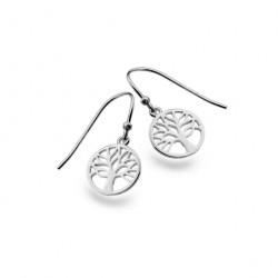 Sea Gems Silver Tree of Life Dropper Earrings P3825