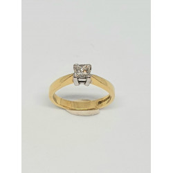 Pre Owned 18ct Princess Cut Diamond Ring ZA454