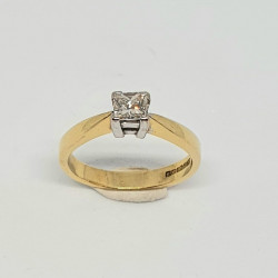 Pre Owned 18ct Princess Cut Diamond Ring ZA454