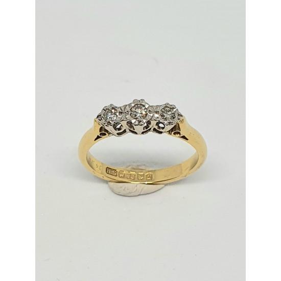 Pre Owned 18ct 3 Stone Diamond Ring ZAL220