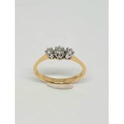 Pre Owned 18ct 3 Stone Diamond Ring ZAL438