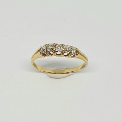 Pre Owned 18ct 5 Stone Diamond Ring ZH930