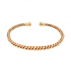 Pre Owned 9ct 3 Colour Bangle ZK429