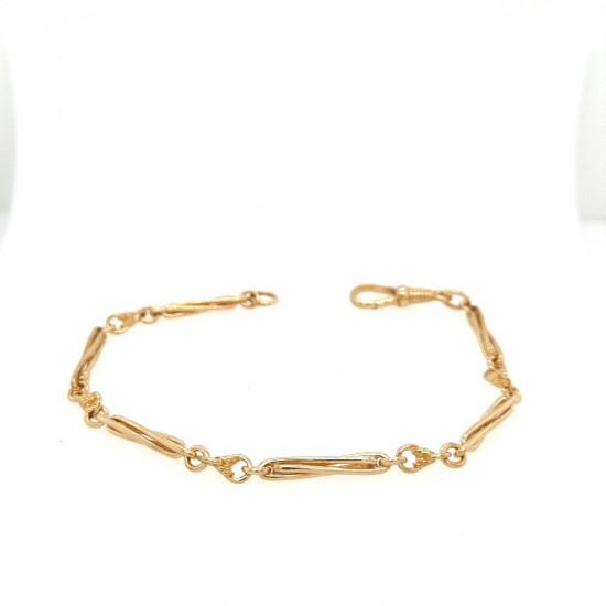Pre Owned 9ct Fancy Link Bracelet ZK430