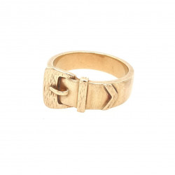 Pre Owned 9ct Buckle Ring ZK498