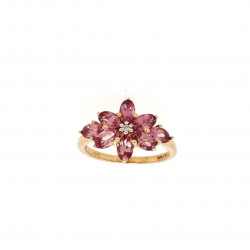 Pre Owned 9ct Brown Gem Set Ring ZK511