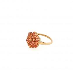 Pre Owned 9ct Orange Gem Stone Ring ZK513