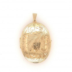 Pre Owned 9ct Large Oval Locket ZK530