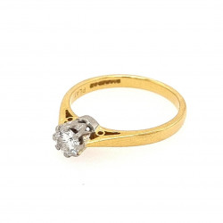 Pre Owned 18ct Diamond Solitaire Ring ZK566