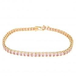 Pre Owned 14ct Pink CZ Bracelet ZK575