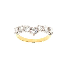 Pre Owned 18ct 1 Carat Diamond Wishbone Ring ZL240