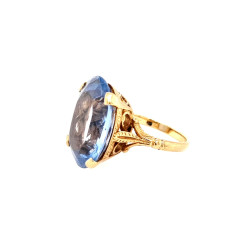 Pre Owned 9ct Blue Topaz Ring ZL259