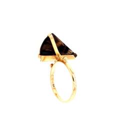 Pre Owned 9ct Smokey Quartz Ring ZL260