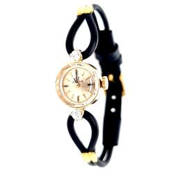 Pre Owned 14ct Diamond Set Ladies Omega Watch ZL295