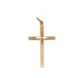 Pre Owned 9ct Engraved Cross ZL37