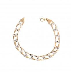 Pre Owned 9ct Diamond Set Curb Bracelet ZL51