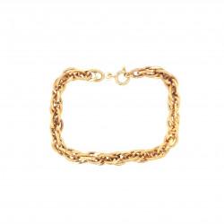 Pre Owned 9ct Hollow Fancy Link Bracelet ZL52