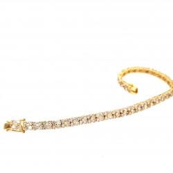 Pre Owned 18ct Diamond Set Bracelet ZL89