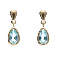9ct Blue Topaz Drop Earrings AP6831