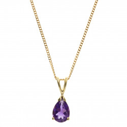9ct Amethyst Pendant and Chain AT0940