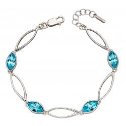 Fiorelli Silver Aqua Navette Twist Bracelet B5211A