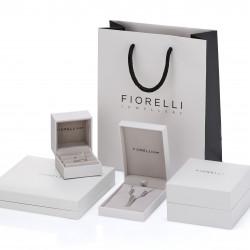 Fiorelli Silver Amethyst Navette Twist Pendant and Chain P4799M