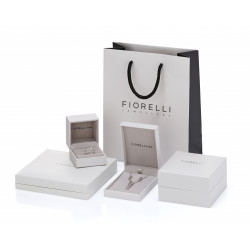 Fiorelli Silver Double navette with CZ drop earrings E5636C