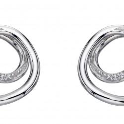 Fiorelli Silver Spiral design earrings E5644C