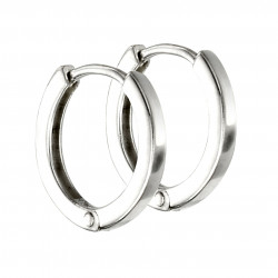 Silver Mini Flat Profile Huggie Hoop Earrings E5864