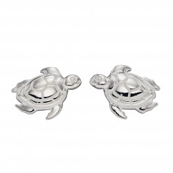 Silver Turtle Stud Earrings E5928