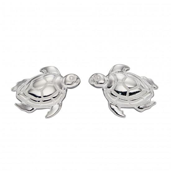 Silver Turtle Stud Earrings E5928