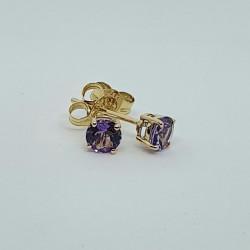 9ct Amethyst Stud Earrings GE1107AM