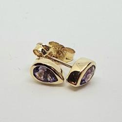 9ct Amethyst Stud Earrings GE1119AM
