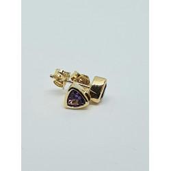 9ct Gold Amethyst Stud Earrings GE1127AM