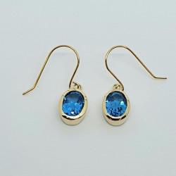 9ct Blue Topaz Drop Earrings GE1158BT