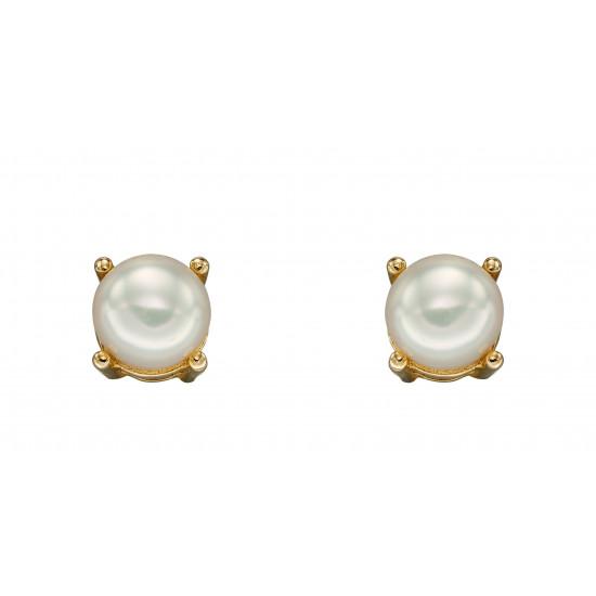 Birthstone 9ct Gold June Birthstone Stud Earrings GE2331