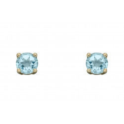 Birthstone 9ct Gold March Stud Earrings GE2328