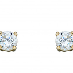 Birthstone 9ct Gold April CZ Stud Earrings GE2329