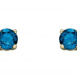 Birthstone 9ct Gold December Stud Earrings GE2337
