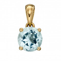 Birthstone 9ct Gold March Pendant GP2191