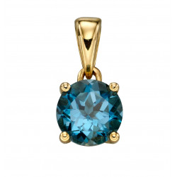 Birthstone 9ct Gold December Pendant GP2199