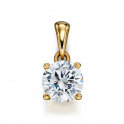 Birthstone 9ct Gold April CZ Pendant GP2235